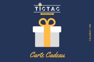 Carte cadeau TICTAC